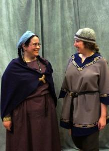 Two simpler chorus costumes.